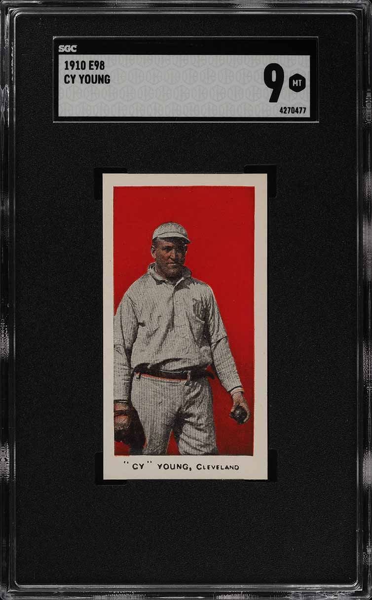 1910 E98 Set Of 30 Red Cy Young SGC 9 MINT (PWCC) - Image 1