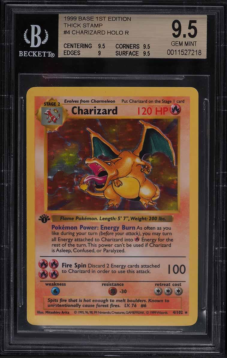 1999 Pokemon Base Set 1st Edition Base Set Holo Charizard 4/102 BGS 9.5 GEM MINT - Image 1
