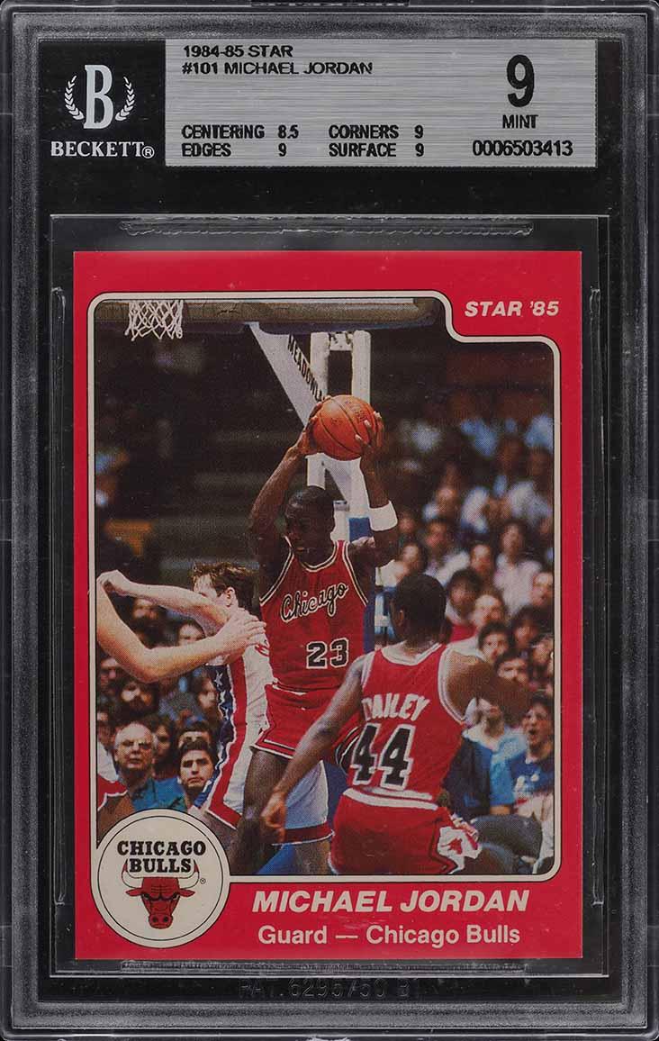 1984-85 Star Basketball Michael Jordan ROOKIE RC #101 BGS 9 MINT (PWCC) - Image 1