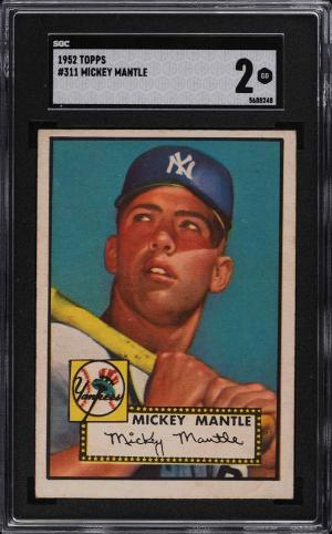 Image of: 1952 Topps Mickey Mantle #311 SGC 2 GD (PWCC-E)