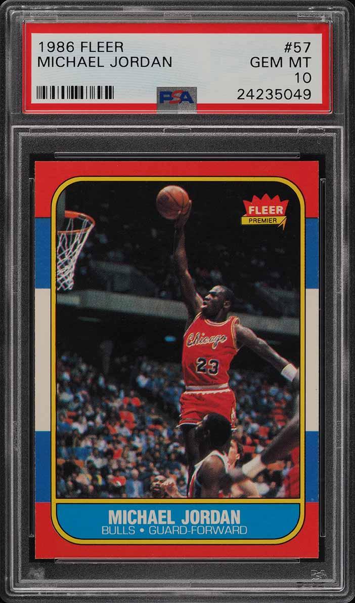1986 Fleer Basketball Michael Jordan ROOKIE RC #57 PSA 10 GEM MINT (PWCC) - Image 1