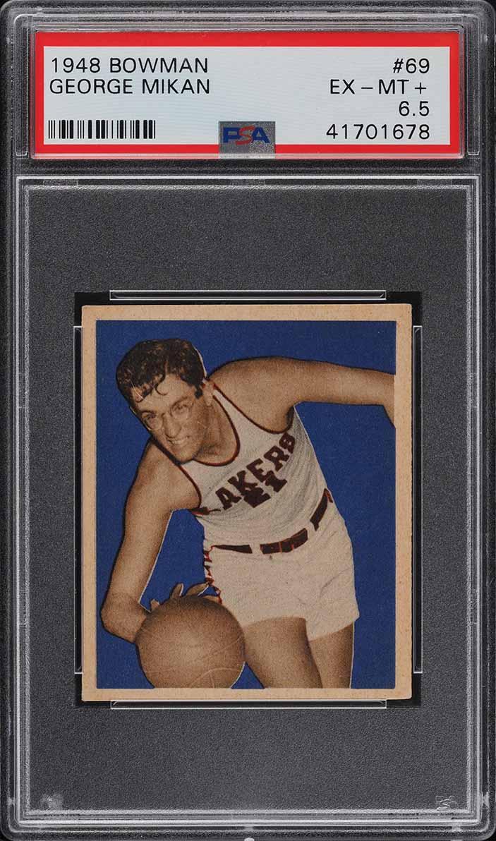 1948 Bowman Basketball George Mikan ROOKIE RC #69 PSA 6.5 EXMT+ (PWCC-A) - Image 1