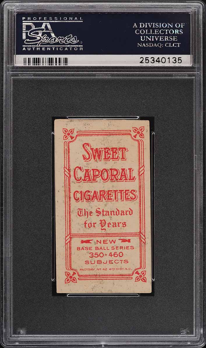 1909-11 T206 SETBREAK Charley O'Leary HANDS ON KNEES, SC FACTORY 42 PSA 5 (PWCC) - Image 2