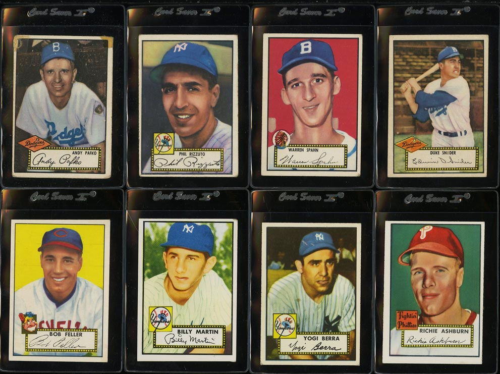 1952 Topps Lo-Mid Grd COMPLETE SET Mays Mathews Berra Robinson Mantle PSA (PWCC) - Image 3