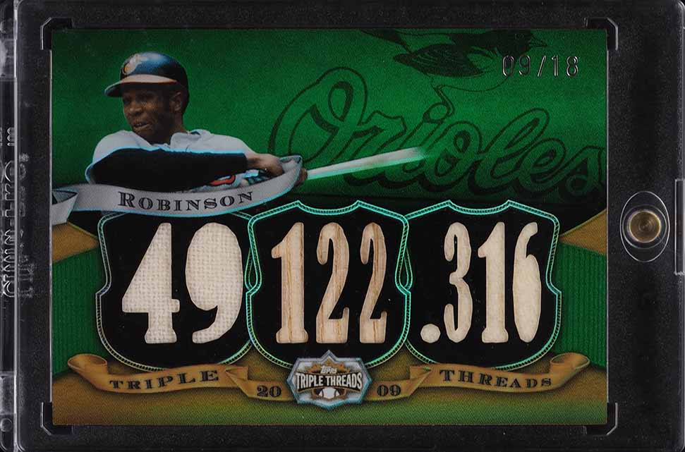 2009 Topps Triple Threads Frank Robinson PATCH /18 #TTR-56 - Image 1