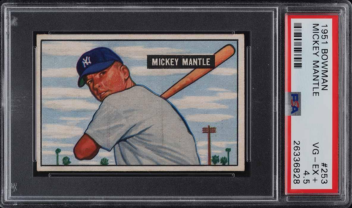 1951 Bowman Mickey Mantle ROOKIE RC #253 PSA 4.5 VGEX+ (PWCC) - Image 1