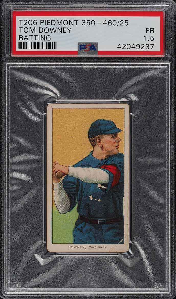 1909-11 T206 Tom Downey BATTING PSA 1.5 PR (PWCC) - Image 1