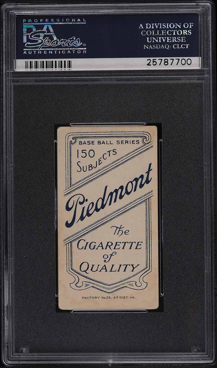 1909-11 T206 Bill Bergen BATTING PSA 3.5 VG+ - Image 2