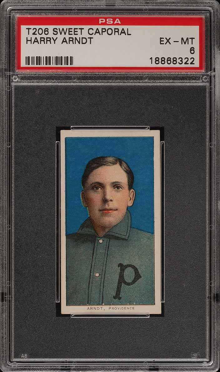 1909-11 T206 Harry Arndt PSA 6 EXMT (PWCC-A) - Image 1