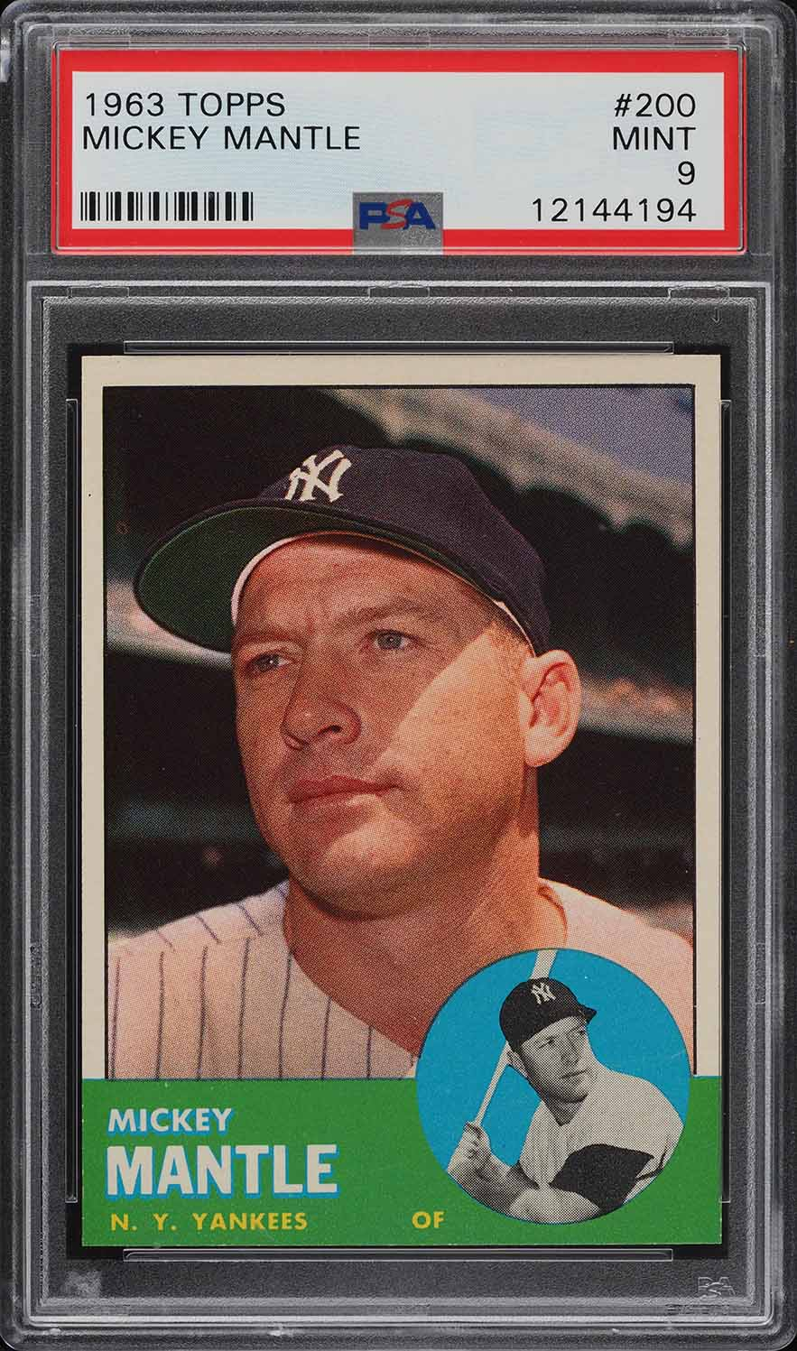 1963 Topps Mickey Mantle #200 PSA 9 MINT - Image 1