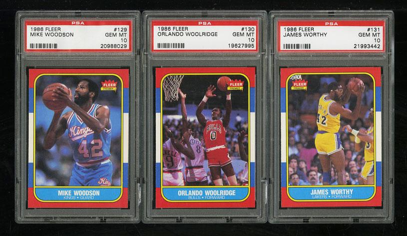 1986 Fleer Basketball COMPLETE PSA 10 SET Johnny Moore Michael Jordan RC (PWCC) - Image 15
