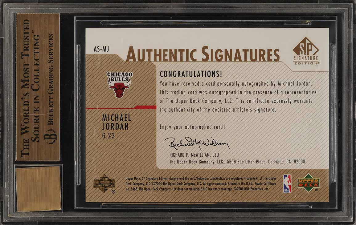 2003 SP Signature Edition Gold Michael Jordan AUTO /50 #MJ BGS 9.5 GEM MT (PWCC) - Image 2