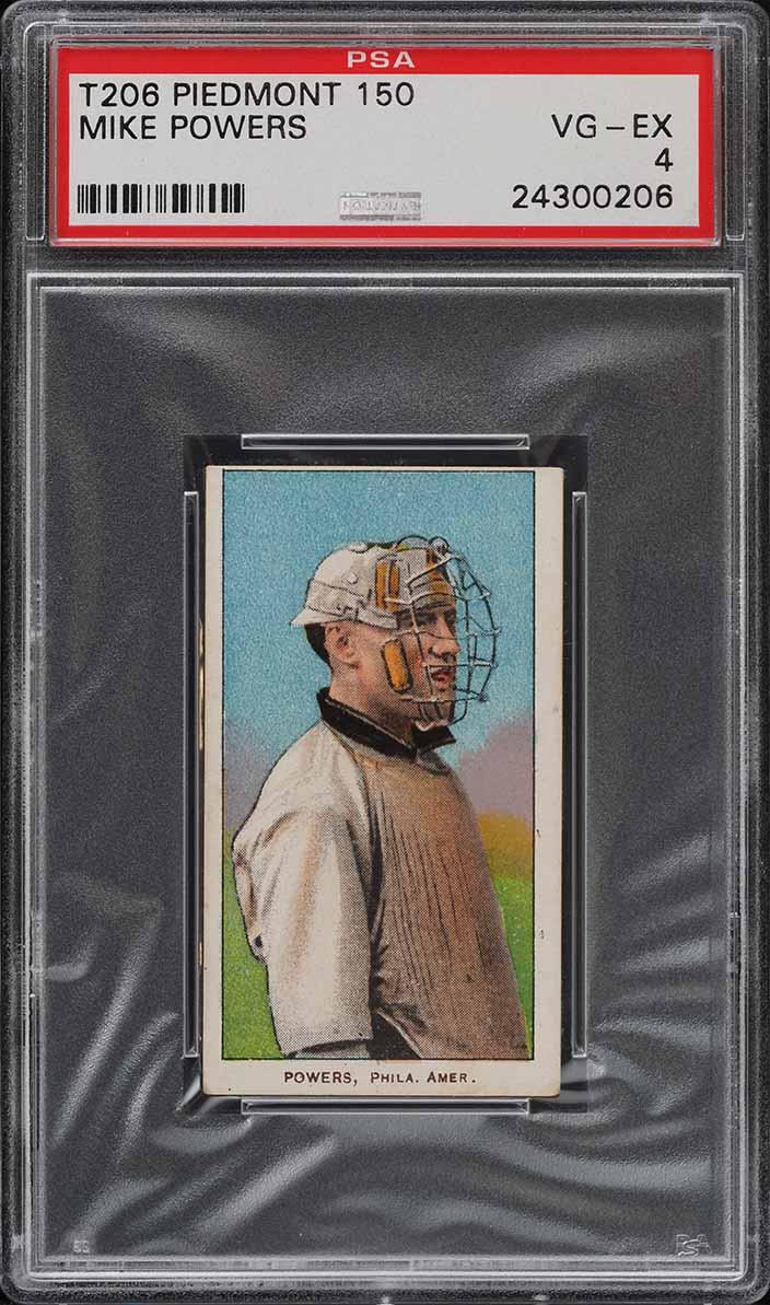 1909-11 T206 SETBREAK Mike Powers PSA 4 VGEX (PWCC) - Image 1