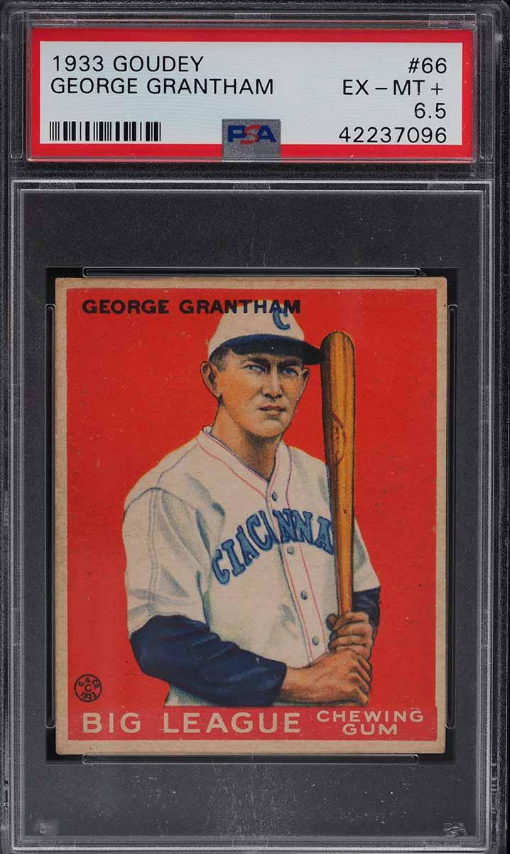 1933 Goudey George Grantham #66 PSA 6.5 EXMT+ - Image 1