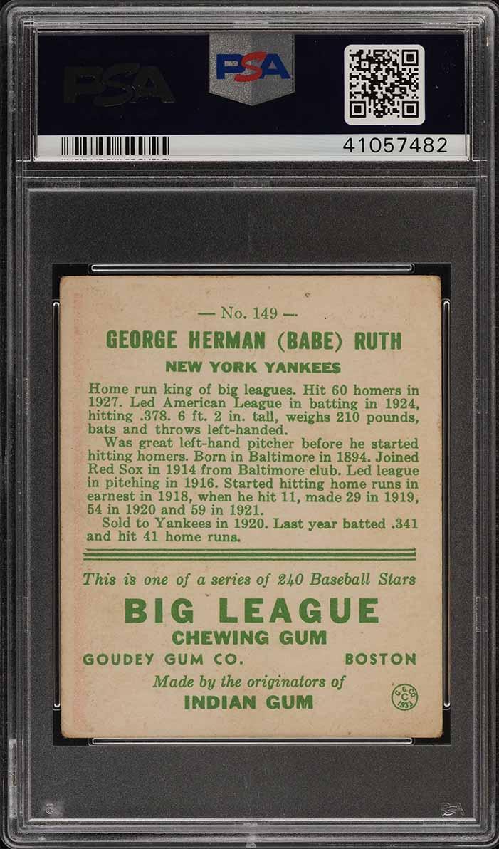 1933 Goudey Babe Ruth #149 PSA 4 VGEX (PWCC) - Image 2