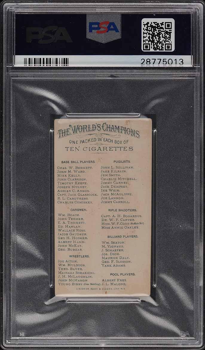 1888 N28 Allen & Ginter Adrian Cap Anson PSA 4.5 VGEX+ - Image 2