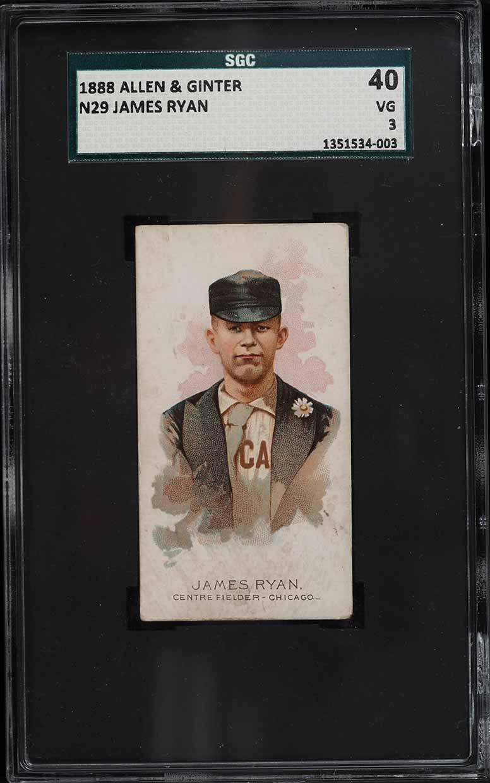1888 N29 Allen & Ginter James Ryan SGC 3 VG - Image 1