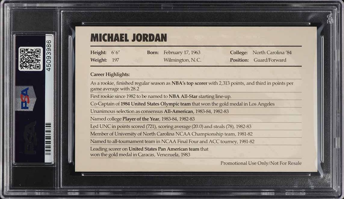 1985 Nike Promo Michael Jordan ROOKIE RC PSA 8 NM-MT (PWCC) - Image 2
