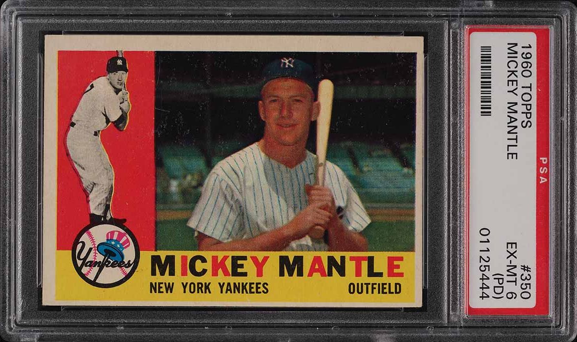 1960 Topps Mickey Mantle #350 PSA 6(pd) EXMT - Image 1
