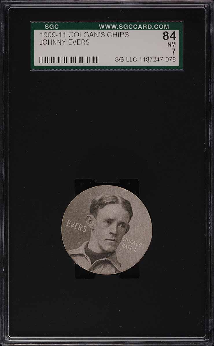 1909 Colgan's Chips Johnny Evers SGC 7 NRMT - Image 1