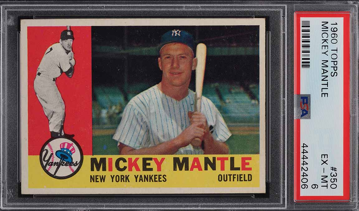 1960 Topps Mickey Mantle #350 PSA 6 EXMT (PWCC-A) - Image 1