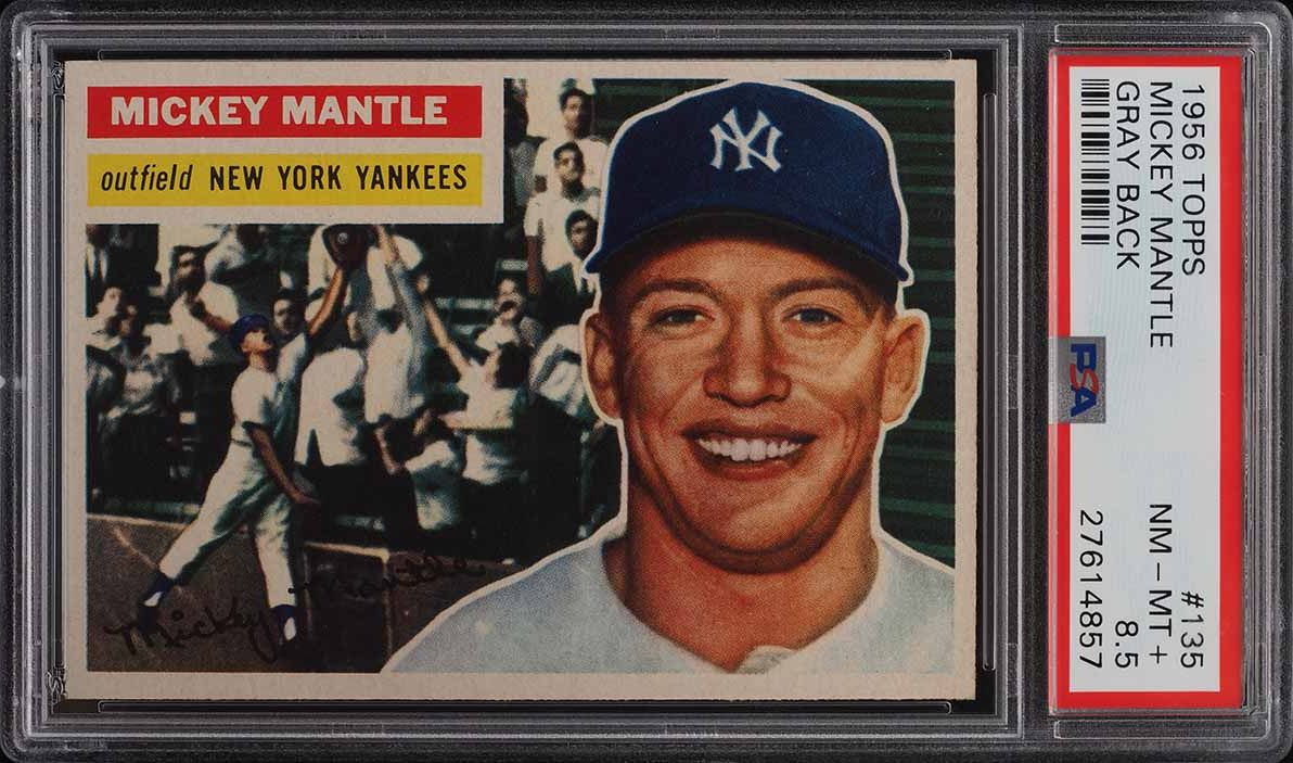 1956 Topps Mickey Mantle #135 PSA 8.5 NM-MT+ - Image 1
