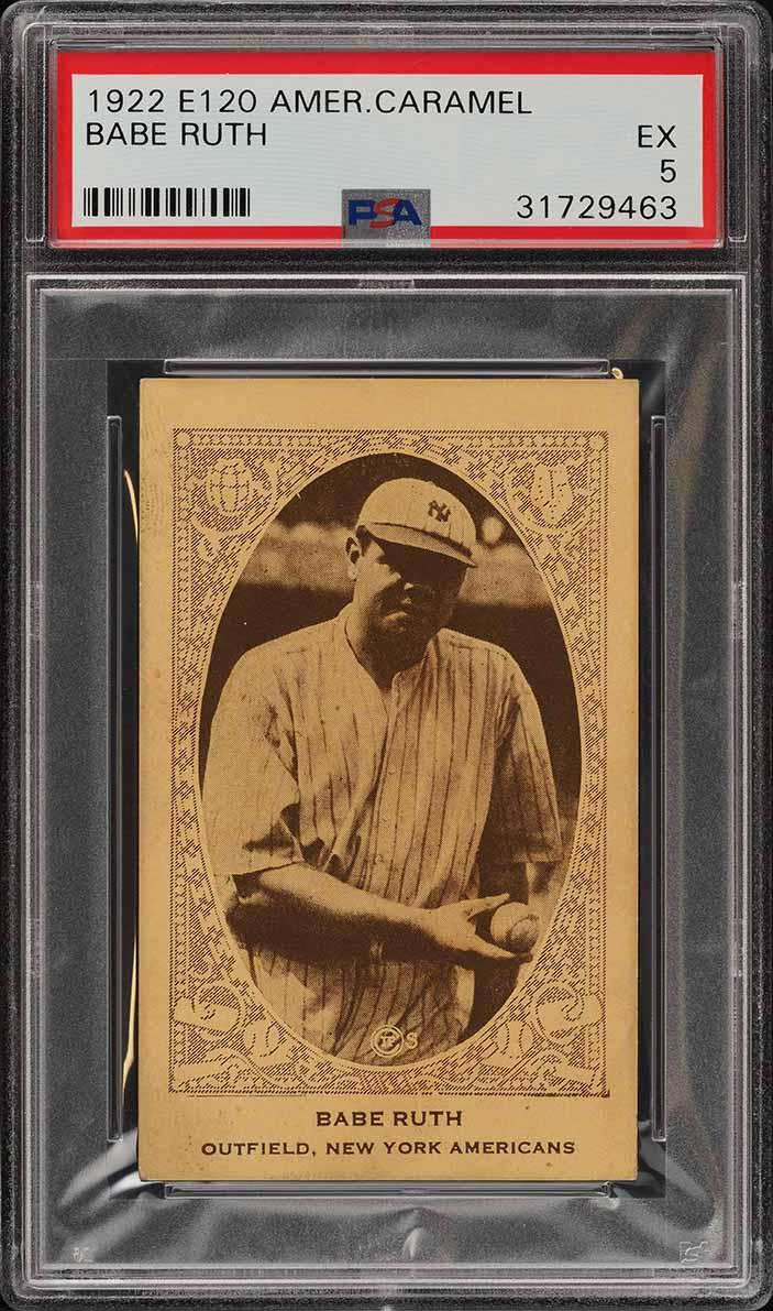 1922 E120 American Caramel Babe Ruth PSA 5 EX (PWCC) - Image 1