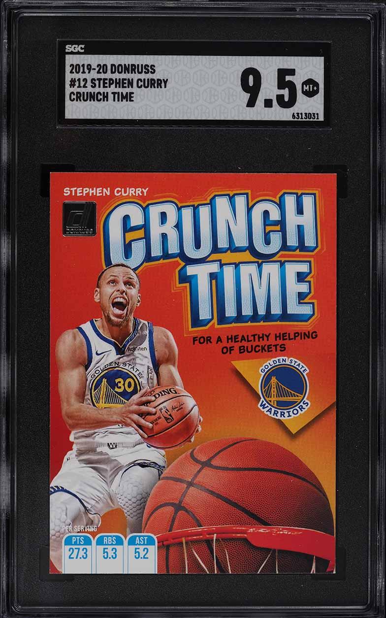 2019 Donruss Crunch Time Stephen Curry #12 SGC 9.5 MINT+ - Image 1