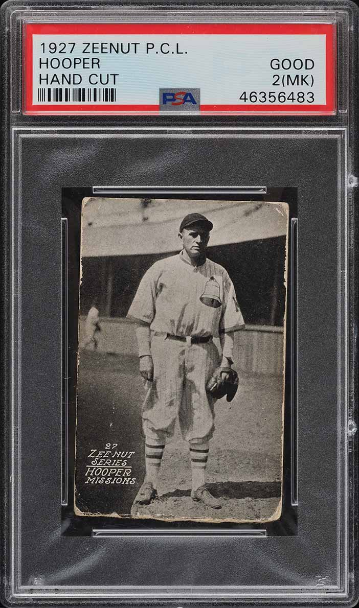 1927 Zeenut Pacific Coast League Hooper PSA 2(mk) GD - Image 1