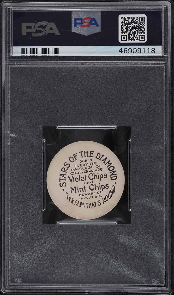 1909 Colgan's Chips Stars Of The Diamond Steve Evans PSA 6 EXMT - Image 2