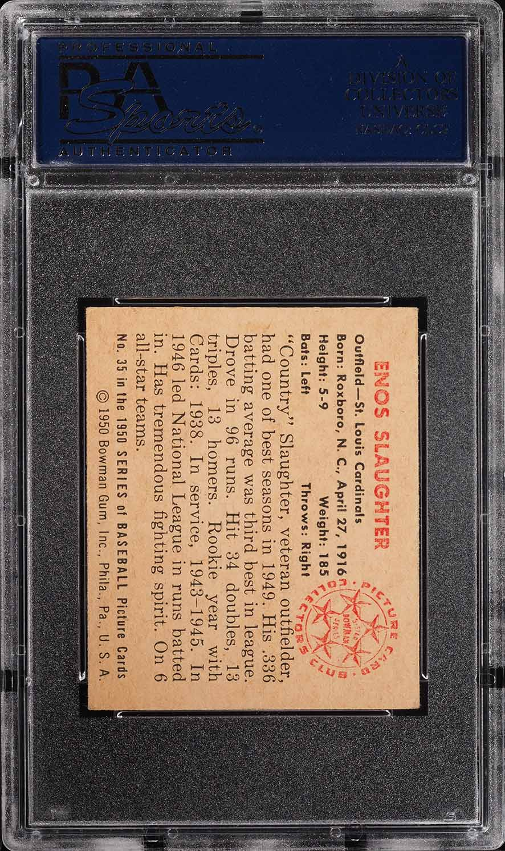 1950 Bowman Enos Slaughter #35 PSA 4 VGEX (PWCC) - Image 2