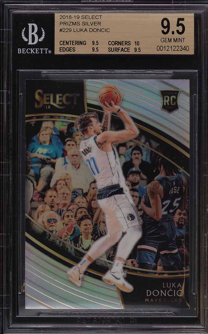 2018 Select Silver Prizms Courtside Luka Doncic ROOKIE RC #229 BGS 9.5 GEM MINT - Image 1