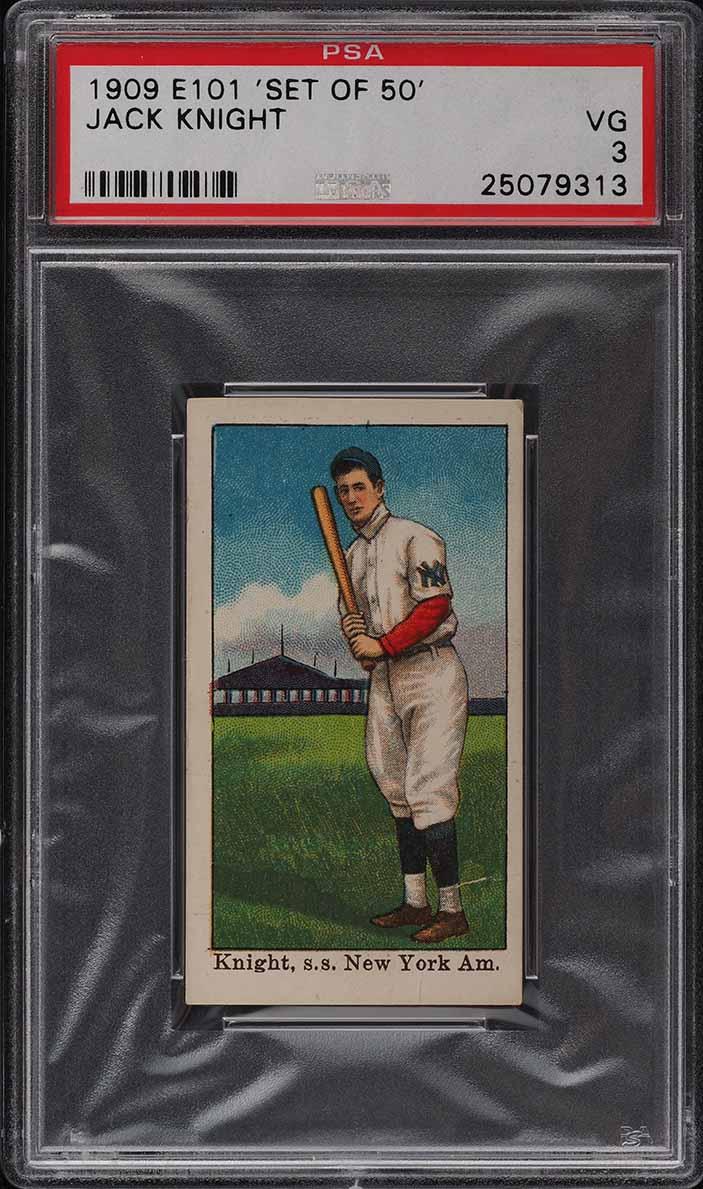 1909 E101 Set Of 50 Jack Knight PSA 3 VG - Image 1