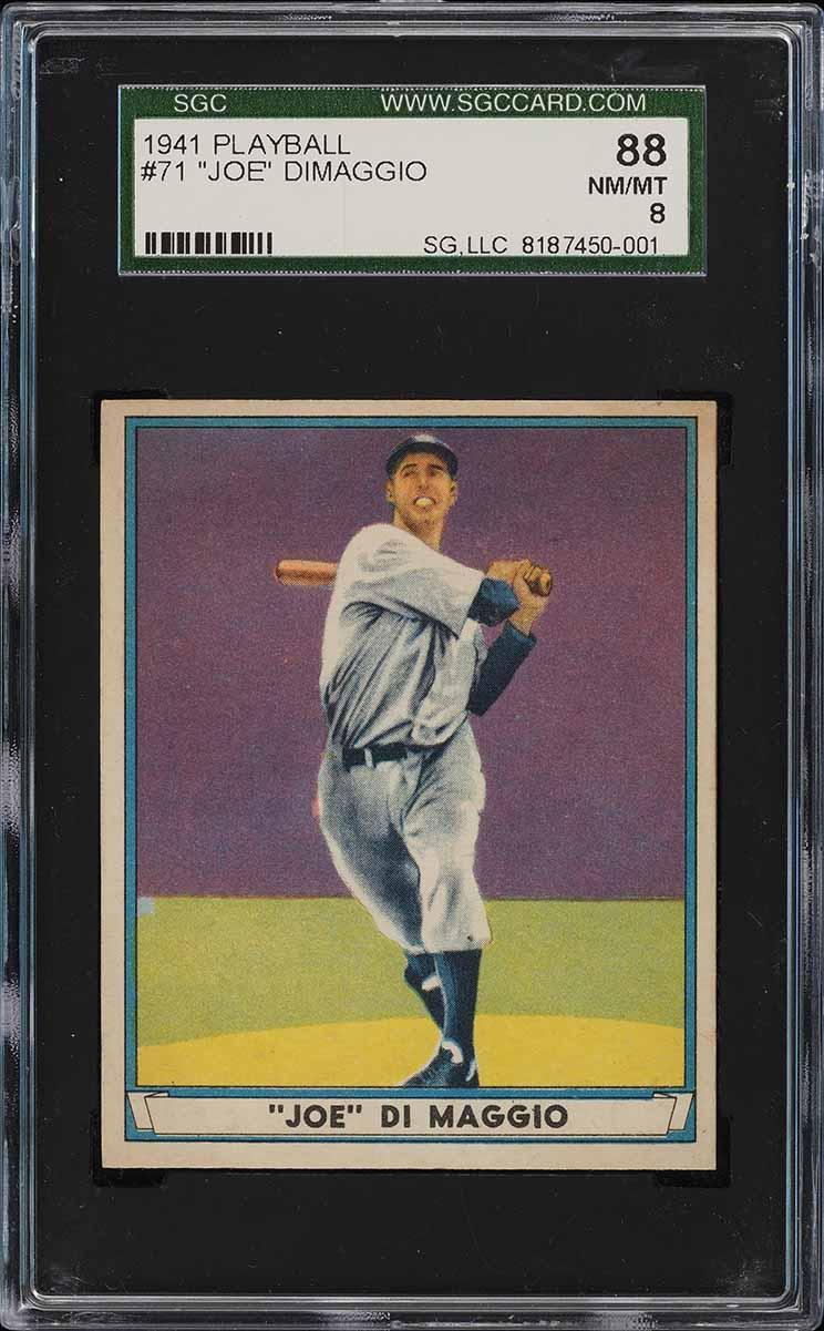 1941 Play Ball Joe DiMaggio #71 SGC 8 NM-MT (PWCC) - Image 1
