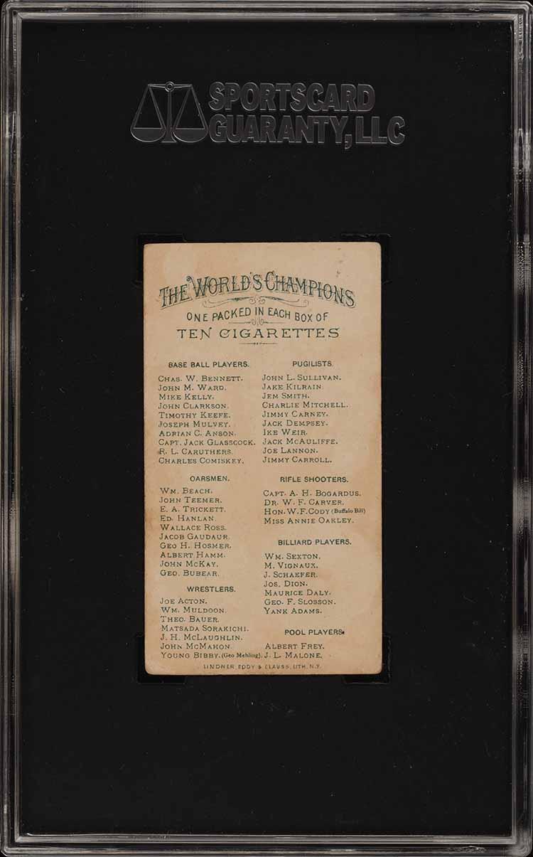 1887 N28 Allen & Ginter Captain Jack Glasscock SGC 3.5 VG+ (PWCC) - Image 2