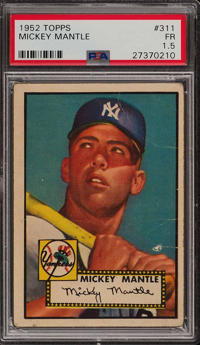 Image of: 1952 Topps Mickey Mantle #311 PSA 1.5 FR (PWCC)
