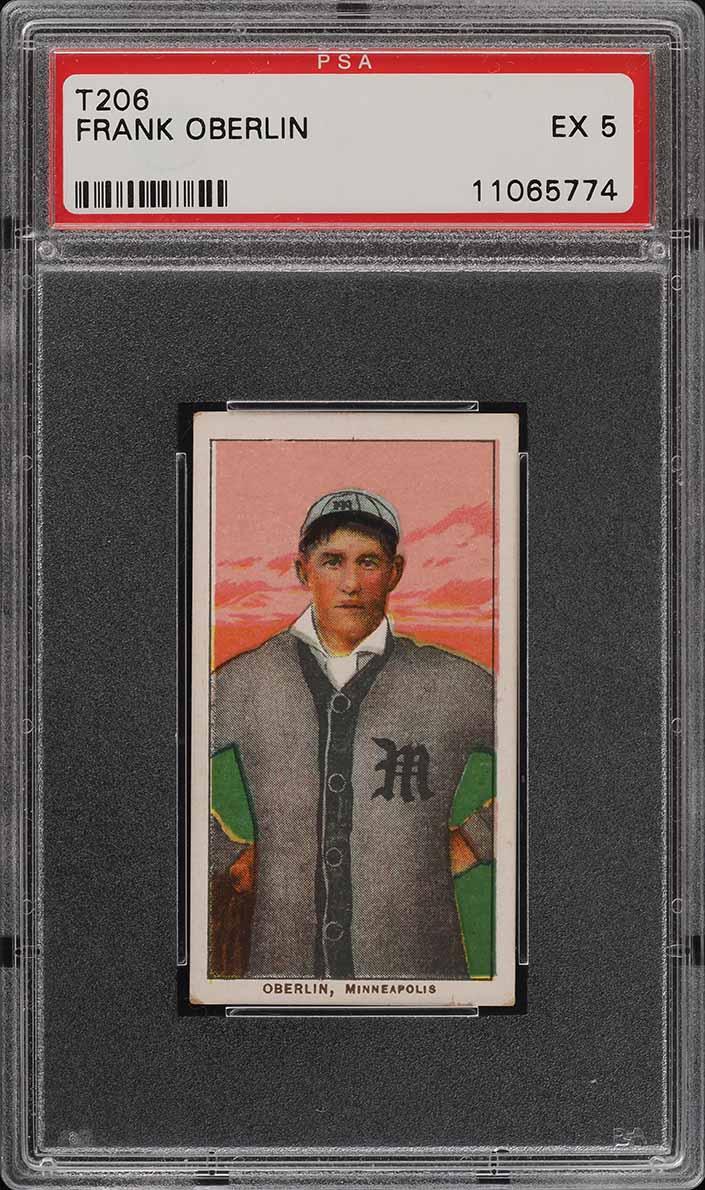 1909-11 T206 SETBREAK Frank Oberlin SOVEREIGN PSA 5 EX (PWCC) - Image 1