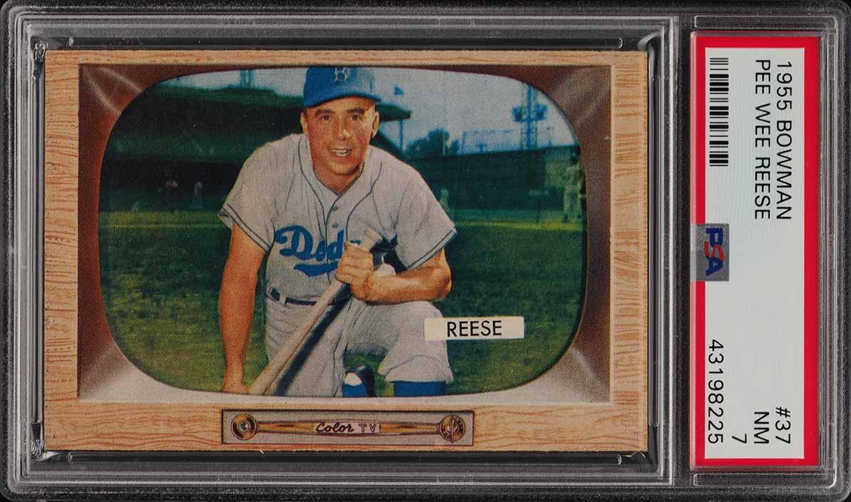 1955 Bowman Pee Wee Reese #37 PSA 7 NRMT (PWCC) - Image 1