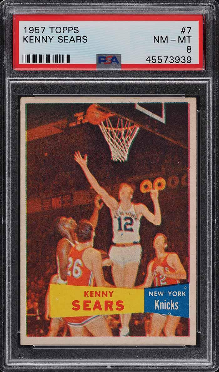 1957 Topps Basketball Kenny Sears #7 PSA 8 NM-MT (PWCC) - Image 1