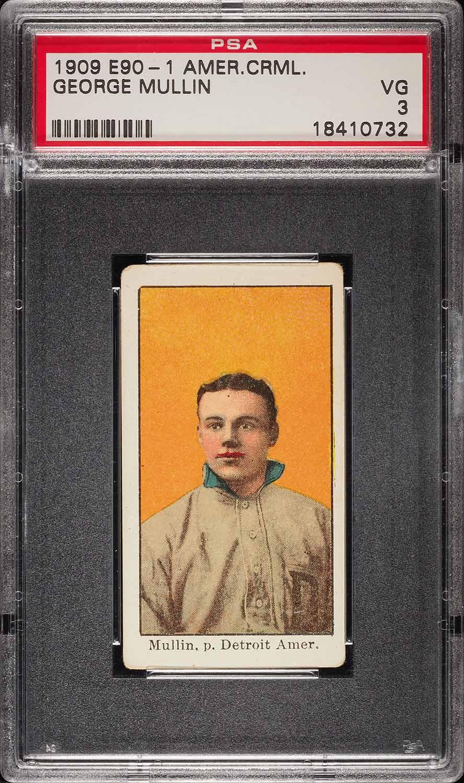 1909 E90-1 American Caramel George Mullin PSA 3 VG (PWCC) - Image 1