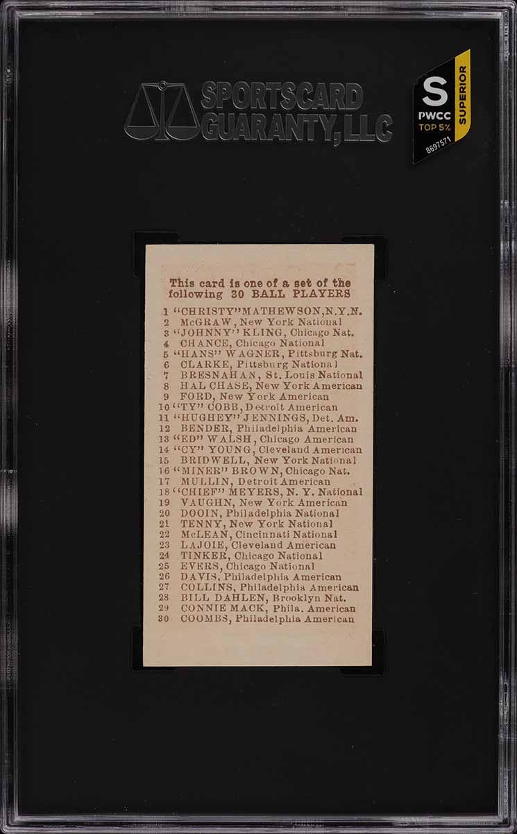 1910 E98 Set Of 30 Red Ty Cobb SGC 8.5 NM-MT+ (PWCC-S) - Image 2