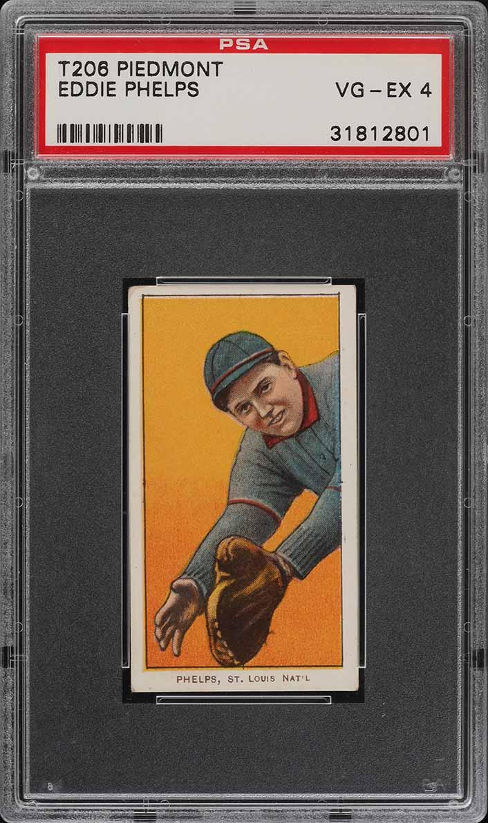 1909-11 T206 SETBREAK Eddie Phelps PSA 4 VGEX (PWCC) - Image 1