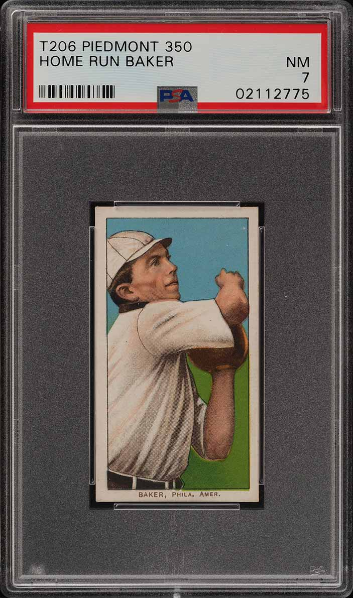1909-11 T206 Frank 'Home Run' Baker PSA 7 NRMT (PWCC) - Image 1