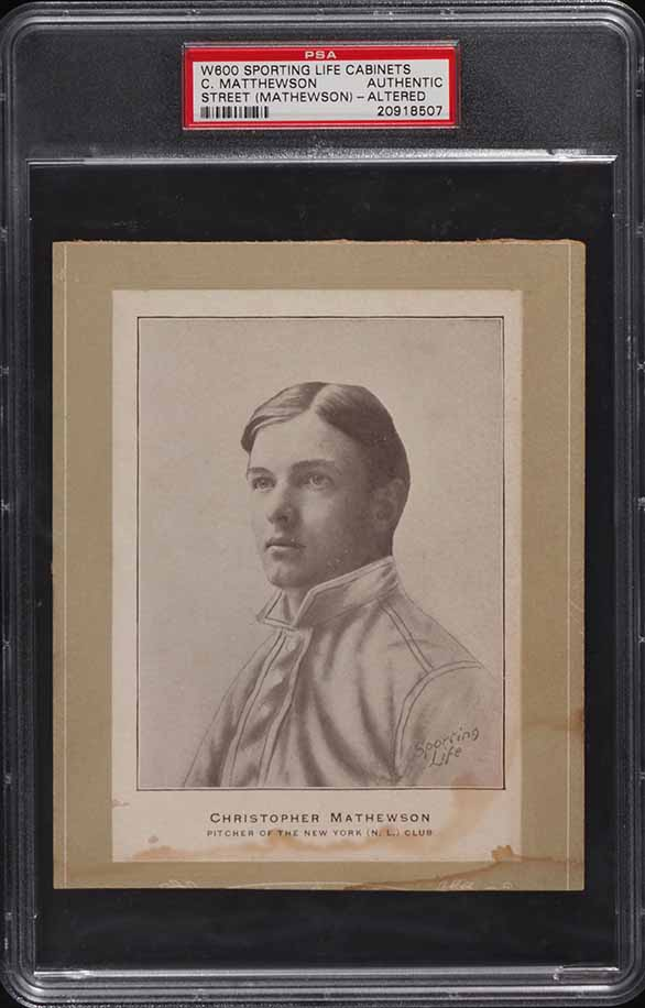 1902 W600 Sporting Life Cabinets Christy Mathewson ROOKIE RC PSA Authentic - Image 1