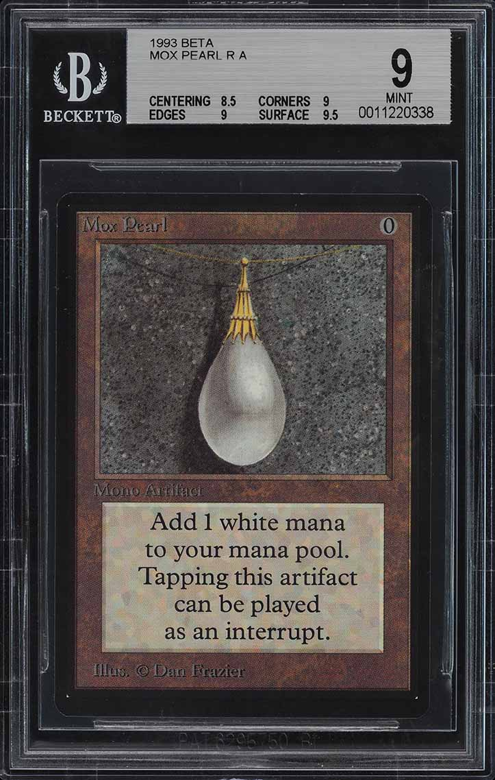 1993 Magic The Gathering MTG Beta Mox Pearl R A BGS 9 MINT (PWCC) - Image 1
