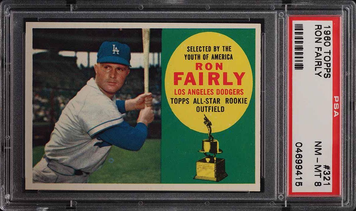 1960 Topps Ron Fairly #321 PSA 8 NM-MT - Image 1