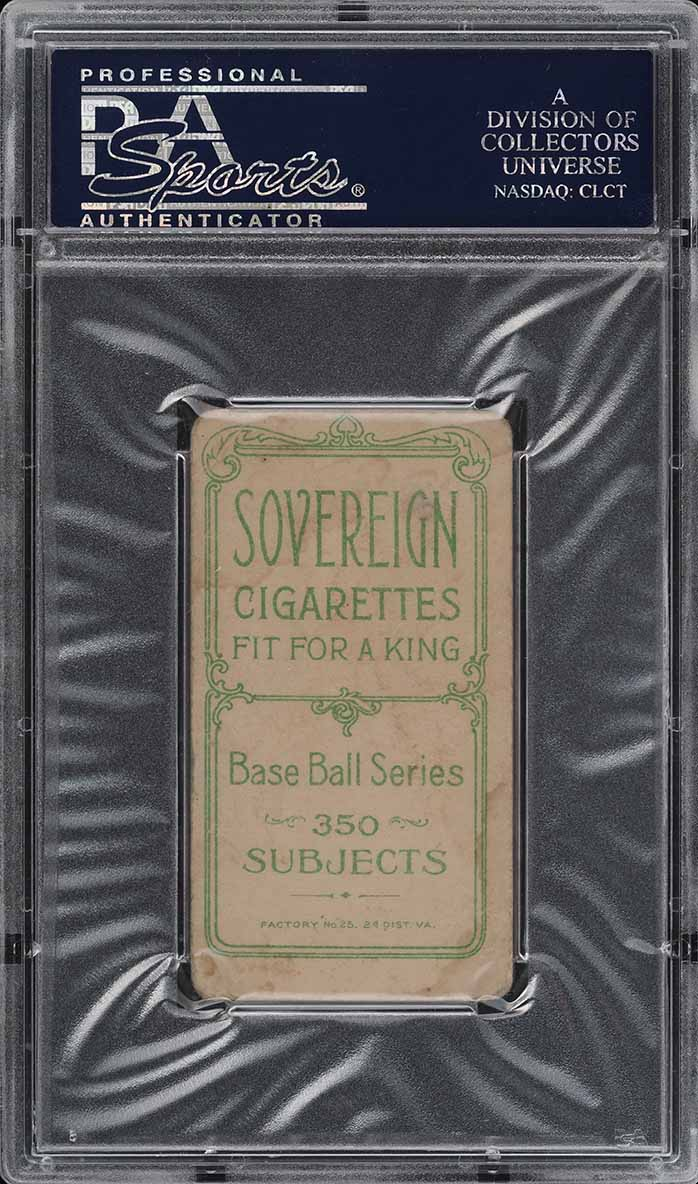 1909-11 T206 Wid Conroy WITH BAT, SOVEREIGN PSA 1.5 PR (PWCC) - Image 2