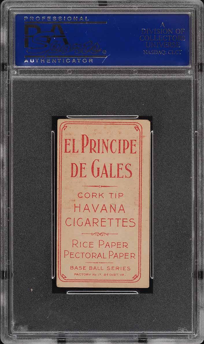 1909-11 T206 SETBREAK Cy Barger EL PRINCIPE DE GALES PSA 4 VGEX (PWCC) - Image 2