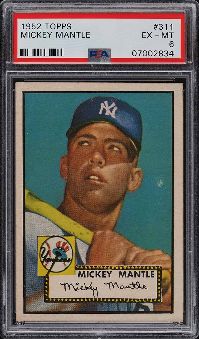1952 Topps Mickey Mantle #311 PSA 6 EXMT (PWCC) - Image 1