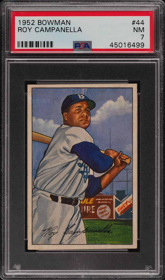 1952 Bowman Roy Campanella #44 PSA 7 NRMT (PWCC) - Image 1